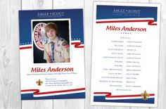 Eagle Scout Ceremony Invitations and Program