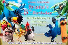 RIO Birthday Invitation RIO Birthday Party por SuperBirthdayParty