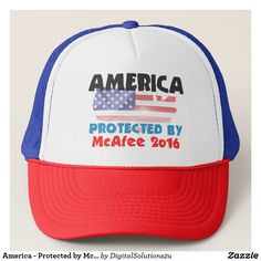 America - Protected by McAfee Trucker Hat