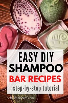 Shampoo Diy, How To Make Shampoo, Lush Shampoo Bar, Best Shampoo Bars, Solid Shampoo, Homemade Shampoo And Conditioner, Homemade Soap Recipes, Easy Recipes, Homemade Soap Bars