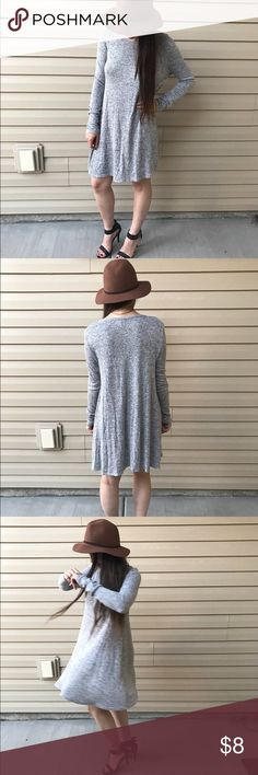 ❤️3 FOR $11 SALE❤️ Long sleeved swing dress Long sleeved swing dress. Has hold on left shoulder near collar. Cute and comfy! Dresses