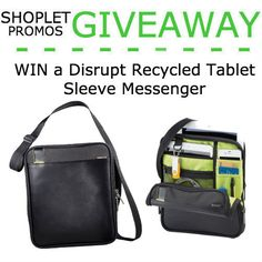 WIN a Disrupt Recycled Tablet Sleeve Messenger | Shoplet Blog