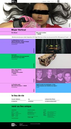 Praline: Le Lieu Unique Web Layout, Layout Design, Well Designed Websites, Ui Color, Creative Design Agency, Art Education Lessons, Website Design, User Interface Design, Graphic Design Posters