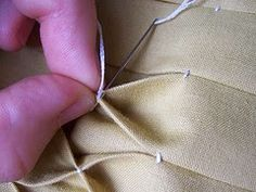 Honeycomb Smocking Tutorial, info for making my apron Smocking Tutorial, Smocking Patterns, Sewing Patterns, Diy Tutorial, Dress Patterns, Coat Patterns, Sewing Hacks, Sewing Tutorials, Sewing Crafts