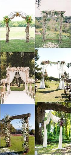 20+ Genius Outdoor Wedding Ideas  wedding arch