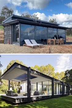 44 Must See Shipping Container Homes - House TopicsYou can find Shipping container design and more on our Must See Shipping Container Homes - House Topics Tiny House Design, Modern House Design, Design Homes, Shipping Container Homes Cost, Shipping Containers, Shipping Container Workshop, Shipping Container Buildings, Building A Container Home, Container House Price