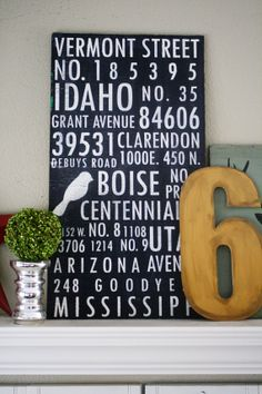 CUSTOM ADDRESS SUBWAY Vinyl Decal Sign Wood by vinylvineyard, $50.00 - all the addresses that you have had, neat