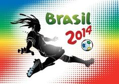 Brazil World Cup 2014 Poster Wall Decal Sticker - Soccer World Cup Brasil - 8 in.