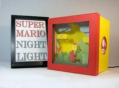 Super Mario night light Nursery decor geek gift by FairyCherry