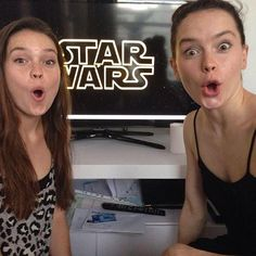 Daisy Ridley with her sister Kika Rose Ridley.