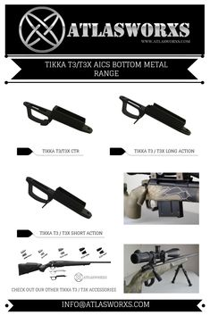 40 Best Atlasworxs Accessories for Tikka T3 / T3x images in 2019