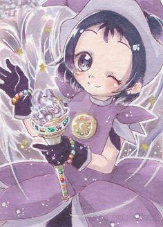 Kakao Card - Onpu Carneval Dress by Parodygirl-Samy on DeviantArt Cartoon Art, Cute Cartoon, Manga Anime, Anime Art, Maho, Satoshi Kon, Ojamajo Doremi, Mermaid Melody, Anime Toys