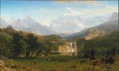 The Rocky Mountains, Lander's Peak Albert Bierstadt (American, Solingen 1830–1902 New York City)