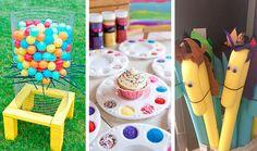 Ideias+para+atividades+e+oficinas+em+festas+infantis+(que+você+pode+fazer+em+casa) School Parties, Activities For Kids, Triangle, Birthday Parties, Classroom, Crafts For Children, Craft Ideas, Visual Motor Activities, Toys
