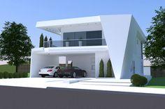 Planta contemporânea com 3 suítes - Projetos de Casas, Modelos de Casas e Fachadas de Casas