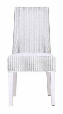 Lloyd Loom Dining Chair in White - - Hicks and Hicks Living Room Chairs, Dining Chairs, Dining Table, Rattan Stool, Wingback Armchair, Side Table With Storage, Occasional Chairs, Club Chairs, Vintage Leather