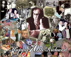 Photo collage for dad's birthday