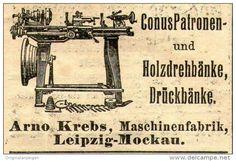 Original-Werbung/ Anzeige 1910 - MASCHINENFABRIK ARNO KREBS / LEIPZIG - MOCKAU  - Ca. 45 X 35 Mm - Werbung