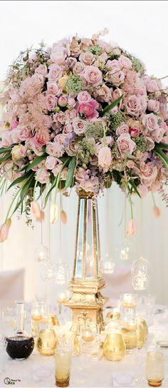 Wedding Tablescape ● Floral Centerpiece