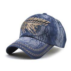 6f2d73a49a4a4 Fashion Cotton Baseball Cap Casual Retro Outdoor Cap Vintage Stickerei