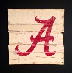 University of Alabama Wall Hanging / Alabama Crimson Tide Sign / Alabama Wall Art on Etsy, $40.00