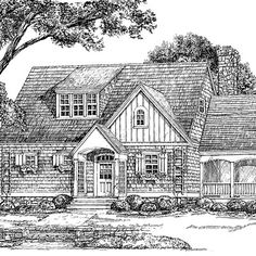 "The Sage House--small house plan from Southern Living. Love the screened porch, upstairs ""computer room"""