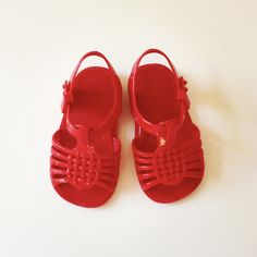 1970's Red Jelly Sandals