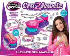 Cra-Z-Art Shimmer n' Sparkle Cra-Z-Jewelz Ultimate Gem Machine Jewelry Making Kits, Jewelry Kits, Kids Jewelry, Crafts For Girls, Toys For Girls, Arts And Crafts, Girl Toys, Alex Toys, Sparkle