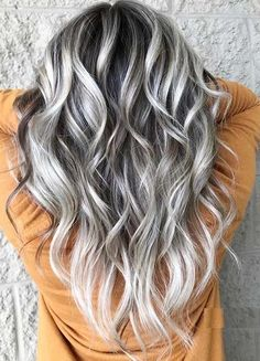 Dimensional Blonde and Balayage Hair Colors Combo in 2020 | Voguetypes Brown And Silver Hair, Silver Platinum Hair, Silver Blonde Hair, Blonde With Pink, Purple Peekaboo Highlights, Peekaboo Hair Colors, Silver Hair Highlights, Hair Color Balayage, Blonde Balayage