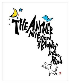 the answer is blowin' in the wind #answer #wind #cat #moon #moonwalkers #illustrator