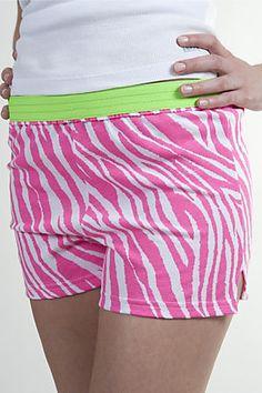 <3 cute #zebra pop Soffe shorts - www.soffe.com
