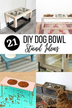 Easy DIY Dog Bowl Stand ideas that you can make today! These have plans and are great for small or large dogs. #anikasdiylife
