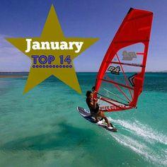 Travel research hack - the definitive world Top14 #windsurfing spots for January #windsurftravel #windsurfspots