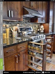 looks almost like my kitchen.  But I forgot the built in spice racks