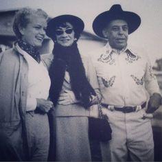 Coco Chanel in Dallas in 1957 with Billie & Stanley Marcus. #chaneldallas #itsdallasbaby