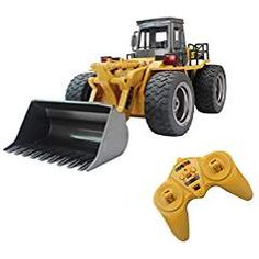 Fistone RC Truck Alloy Shovel Loader Tractor Radio Control 4 Wheel Bulldozer Front Loader Construction Vehicle Electronic Toys Game Hobby Model with Light and Sounds Remote Control Toys, Radio Control, Control 4, Rc Tractors, Cool Toys For Boys, Kids Toys, Tractor Loader, Play Vehicles, Rc Trucks