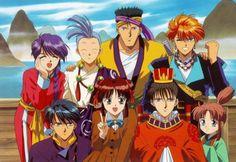Shoujo Anime, Fushigi Yuugi, Nuriko, Chichiri, Mitsukake, Tasuki, Miaka Yuuki