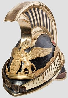 A helmet for officers of Dragoons                                    Grand Duchy of Baden, as worn from 1849 onwards