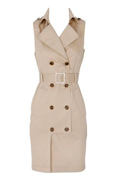 Karen Millen Trench Shirt Dress Stone For Women