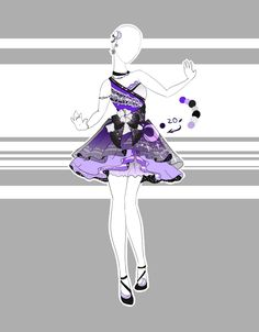 DeviantArt: More Like .::Outfit Adoptable by Scarlett-Knight Clothing Sketches, Dress Sketches, Dress Drawing, Drawing Clothes, Fashion Design Drawings, Fashion Sketches, Anime Outfits, Cool Outfits, Modelos Fashion