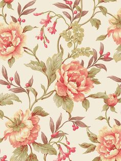 Unique Gifts, Decor, Wallpaper for Home - Gifted Parrot Background Vintage, Background Patterns, Damask Wall Stencils, Peach Peonies, Print Patterns, Fabric Patterns, Old Wallpaper, Floral Printables, Gifts For Pet Lovers
