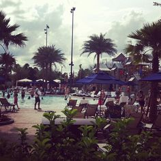 #pool side at the Gaylord Palms
