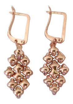 SG Liquid Metal Small Oval Rose Gold Mesh Earrings E32 by Sergio Gutierrez