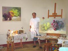 Atelier Fernando Palma - Fazenda dos Dourados - Furnas. Ha alguns anos. Working at farm`s studio, some years ago. MG - Brazil http://www.fernandopalma.com