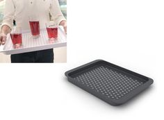 Grip-Tray Serving Tray. High grip surface so that nothing slides. Via Better Living Through Design.