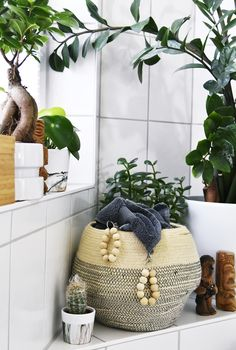 Interior DIY | Handtuch Aufhaenger aus Holzkugeln selbermachen | Badezimmer-Makeover | luzia pimpinella