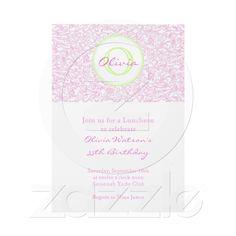 Pink Julep Scroll Vintage Invitation