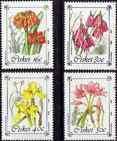 Ciskei 1988 Protected Flowers Set Fine Mint                    SG 123 6 Scott 118 21 Other African and British Commonwealth Stamps HERE!