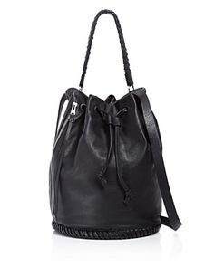 ALLSAINTS Club Bucket Bag. #allsaints #bags #shoulder bags #hand bags #leather #bucket #