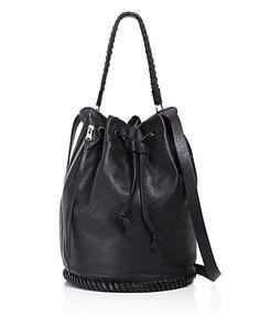 ALLSAINTS Club Bucket Bag. #allsaints #bags #shoulder bags #hand bags #leather #bucket #